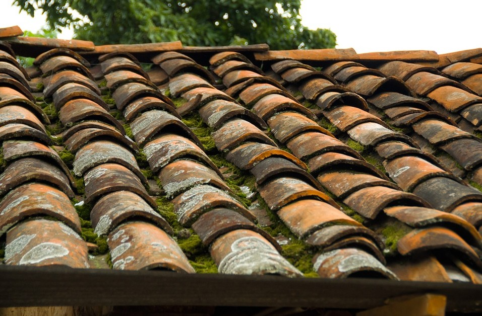 rustic clay tile roof