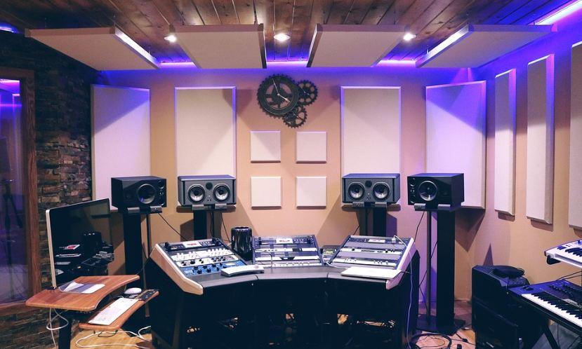 amplifier, sound, studio, loudspeakers, speaker